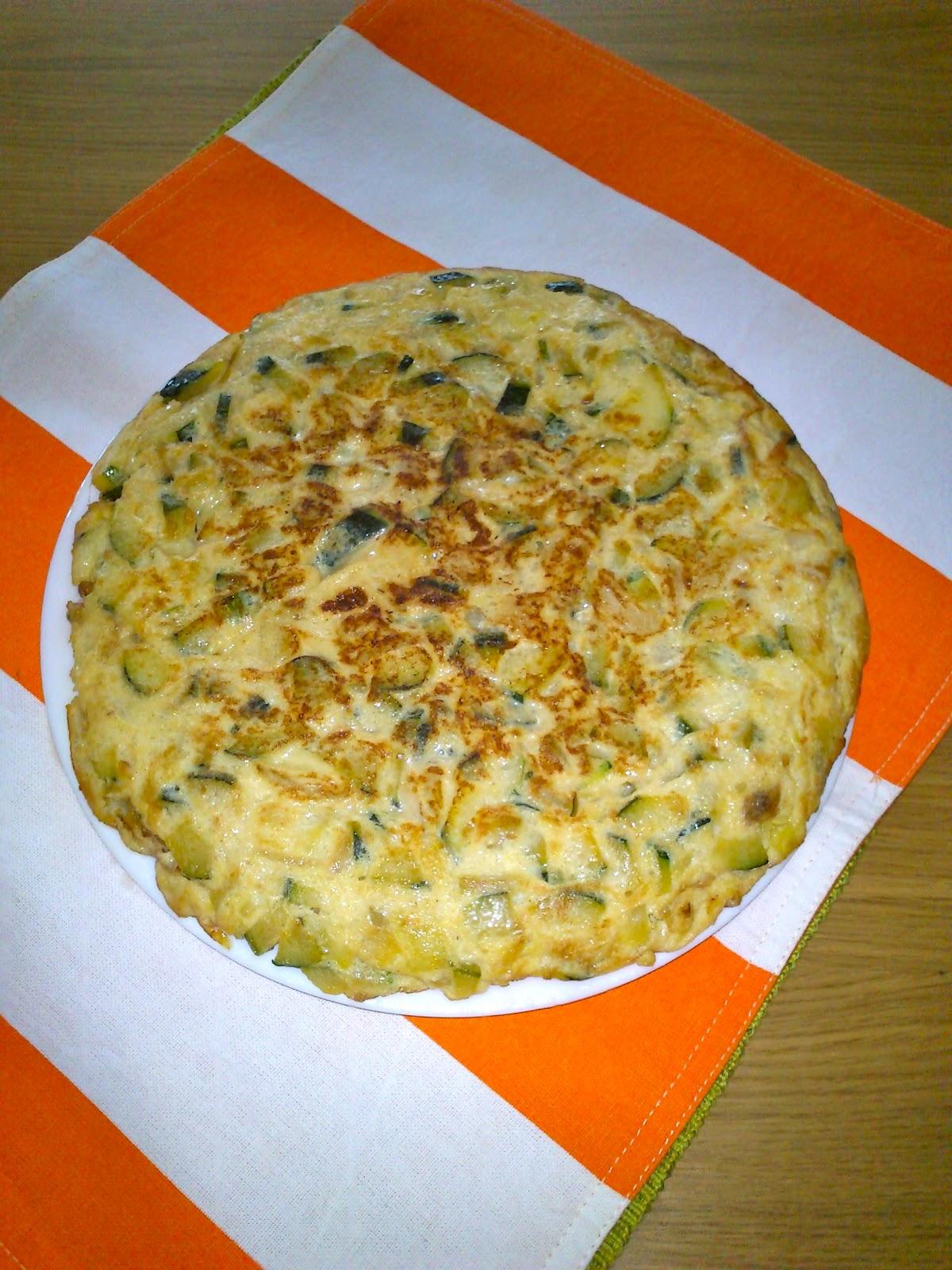 Cocinando con la yaya ana tortilla de calabacin y cebolla - Tortilla de calabacin y cebolla ...