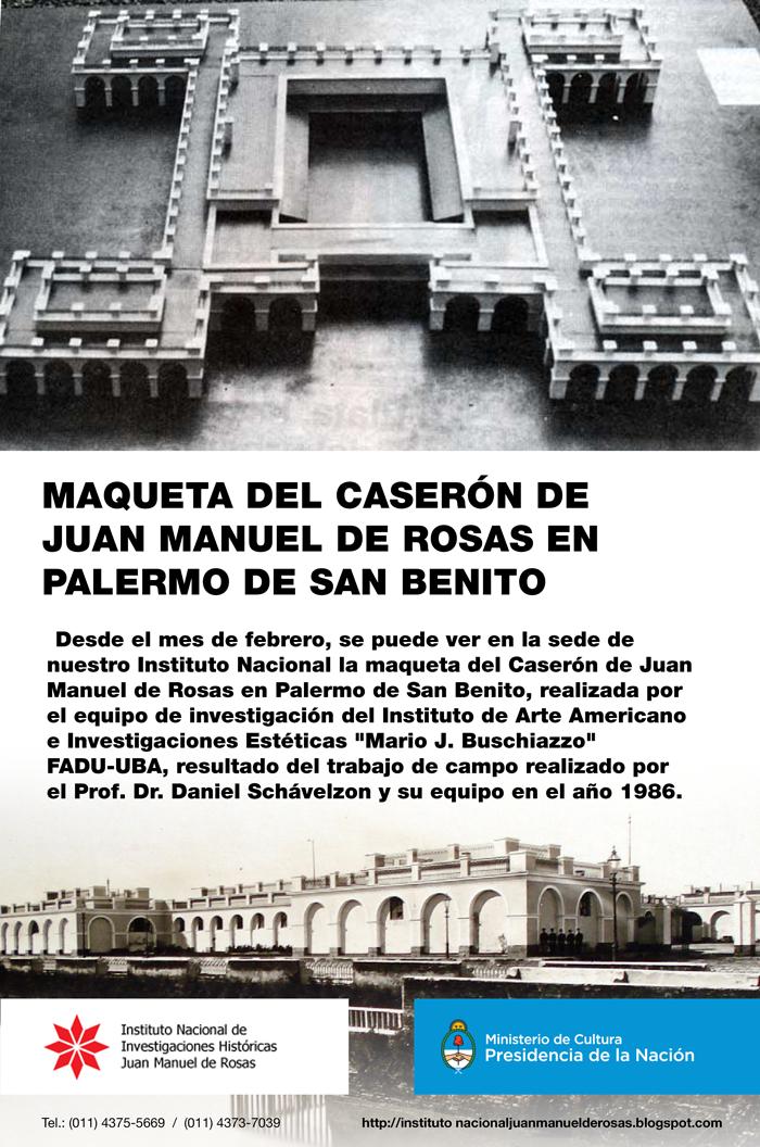 Caserón de Juan Manuel de Rosas en Palermo de San Benito
