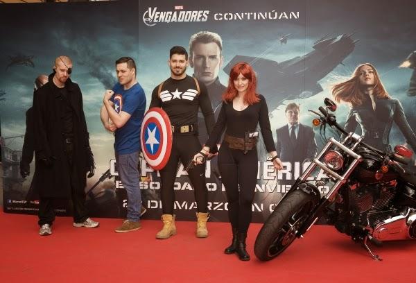 """Fotográfias Evento Fan """"Capitán América: El Soldado de Invierno"""" (22 de marzo)"""
