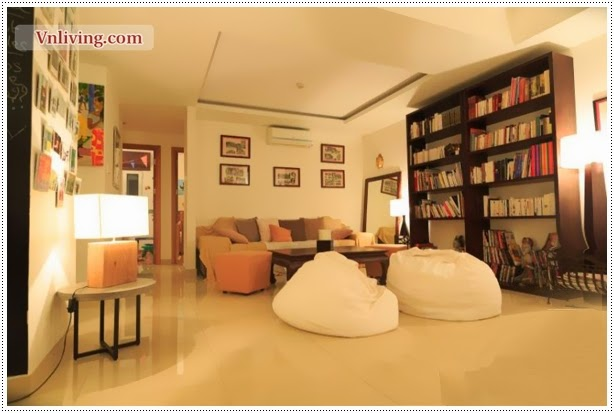 Luxury living room of River Garden apartment