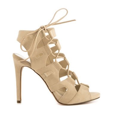 Aldo nude lace-up high heeled shoes