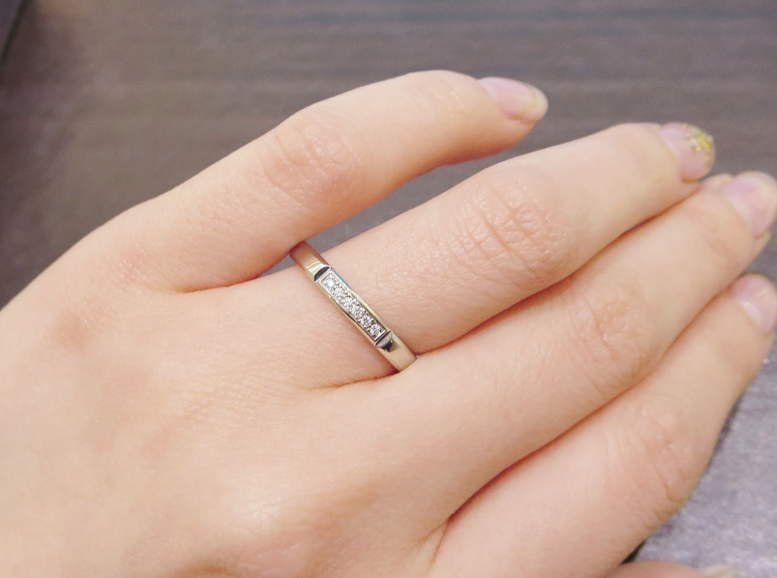 鍛造 フラージャコー チョコレート プラチナ ゴールド 指輪 結婚指輪
