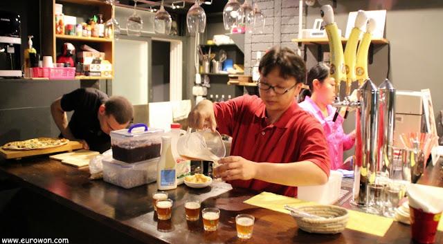 Cata de cervezas artesanales coreanas