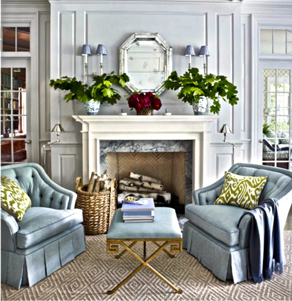 Taking inspiration from greenwich ct and a fabulous home Benjamin moore stonington gray living room