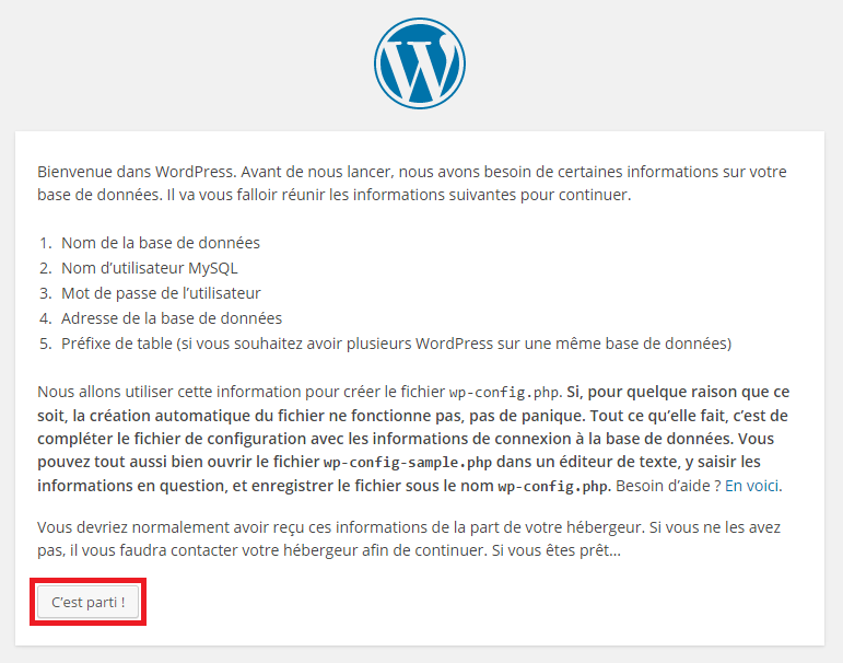 Installation de son blog sous Wordpress