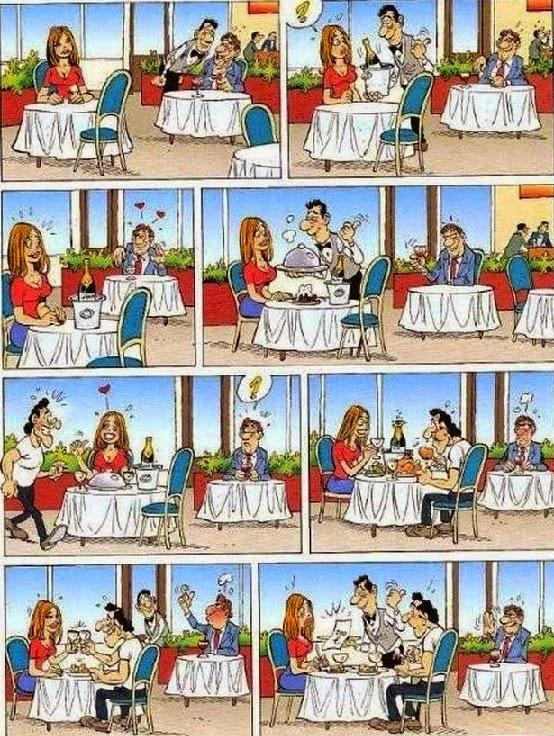 Mientras en restaurant chiste