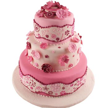 Pink Wedding Cake PINK WEDDING CAKE Posted by Jing Homemade Bakery at 704