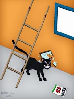 O Mlaghus Tribute do sorteio já está a caminho Casa+5+Azar+Gato+sob+a+escada