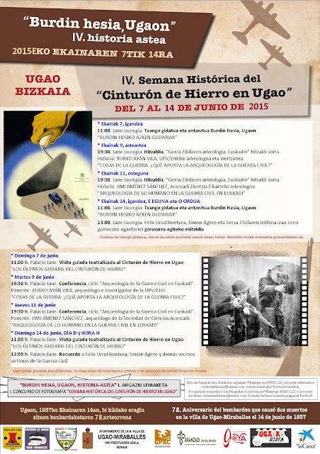 Cartel IV Semana CdH Ugao 2015