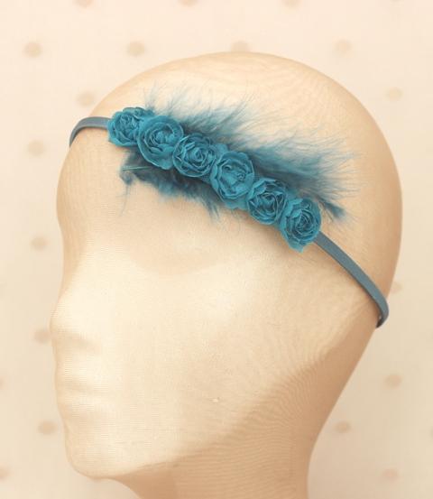 Colección Picnic - Tiara flor azul