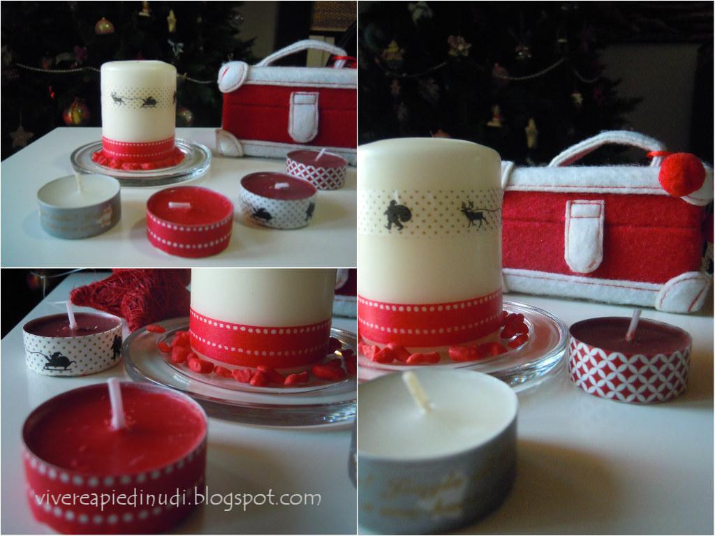 Vivere a piedi nudi living barefoot natale craft and diy - Decorazioni natalizie con candele ...