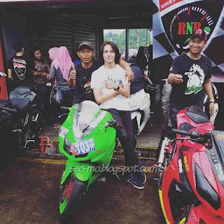 Foto Dylan Carr (Rio) dengan Motornya di Anak Jalanan RCTI