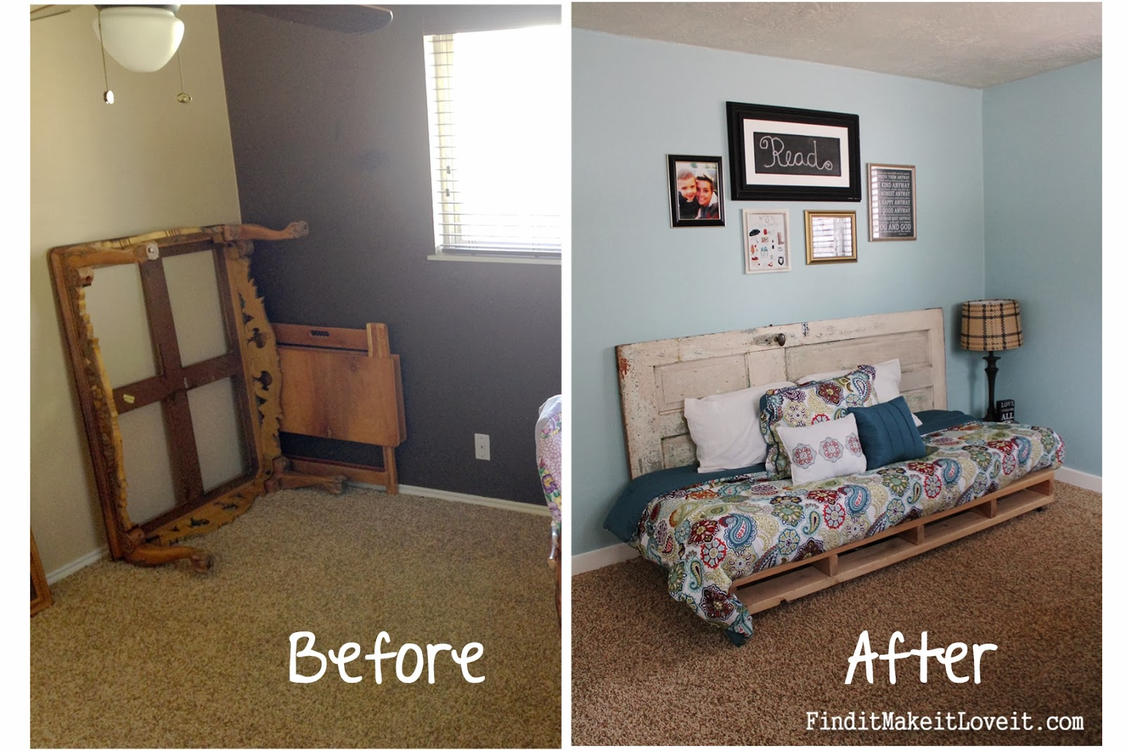 Painting Bedroom Furniture Before And After Spare Bedroom Before After Find It Make It Love It