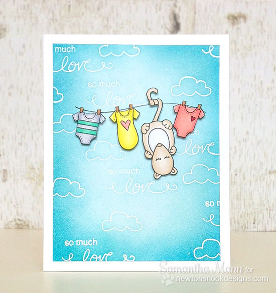 Possum Baby card by Samantha Mann for Newton's Nook Designs | Hanging Around Stamp Set