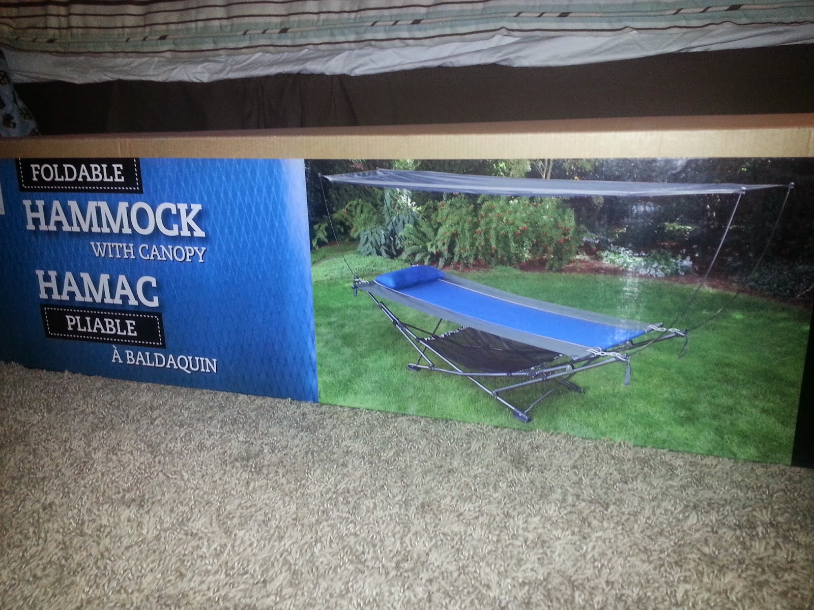 Foldable hammock with canopy Abaldaquin. Two available. $75 each & Have I Got A Deal For You!