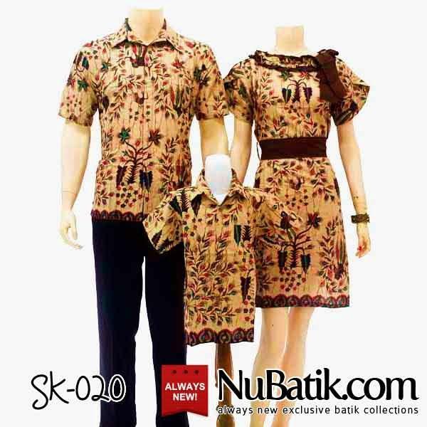 Jual baju batik sarimbit keluarga modern ayah ibu anak Baju gamis couple ibu ayah anak