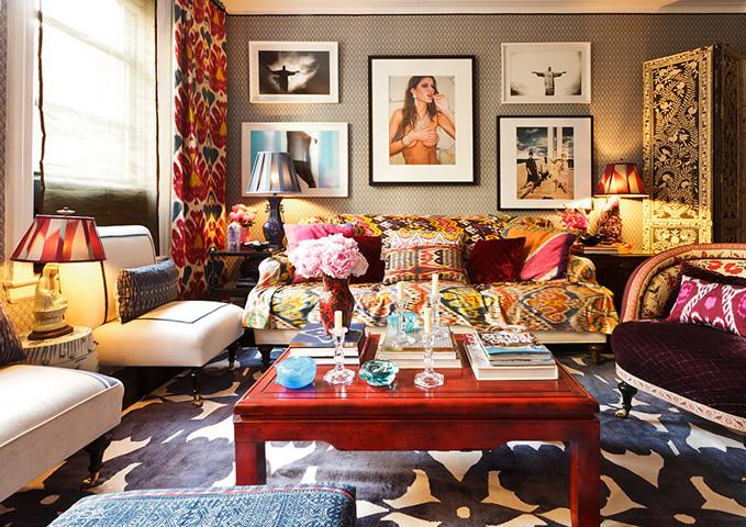 vie de vic mixing patterns. Black Bedroom Furniture Sets. Home Design Ideas