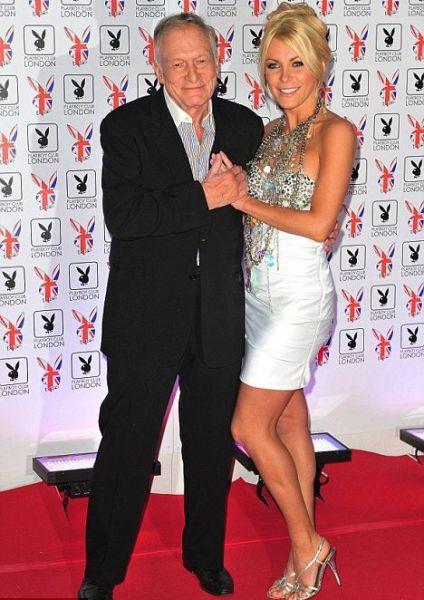 Crystal Harris de 26 anos irá casar com magnata dono da playbou que tem 86 anos