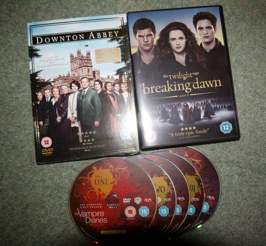 Downton Abbey, Breaking Dawn, The Vampire Diaires