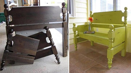 Mueble con cama reciclada - Cabecera de cama reciclada ...