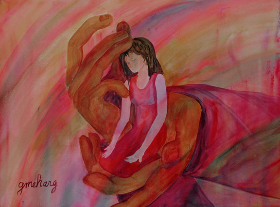 Prophetic art on pinterest holy spirit the spirit and for Watercolor paintings of hands