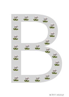 alfabet dla dzieci - baranki
