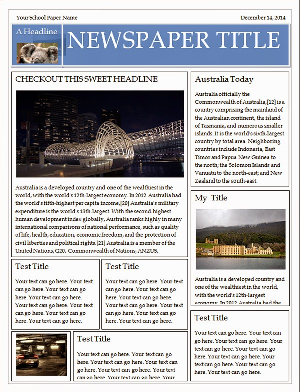 Best newspaper templates free download for Free newspaper template