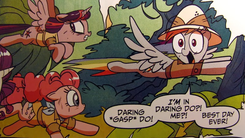 Rainbow Dash takes on the role of Dashing Do