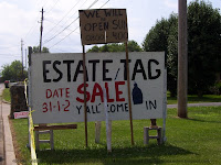 Estate Tag Sale sign, 400 Mile Yard Sale