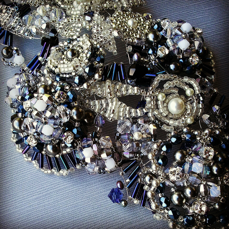 with silver or rhinestone and often bring them into my bridal designs
