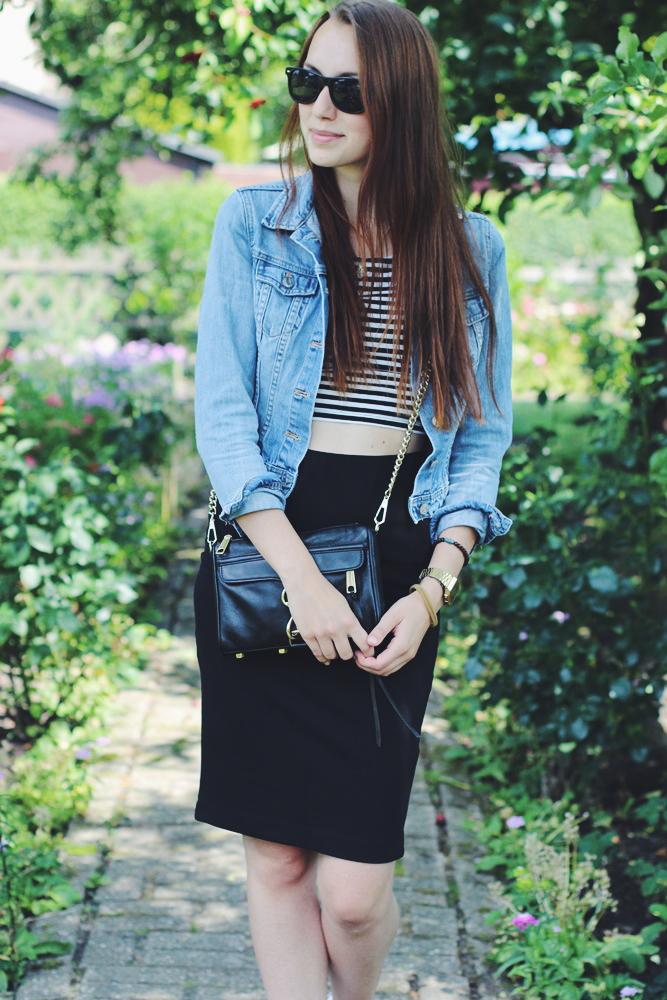 OOTD: Midi Skirt & Stripes