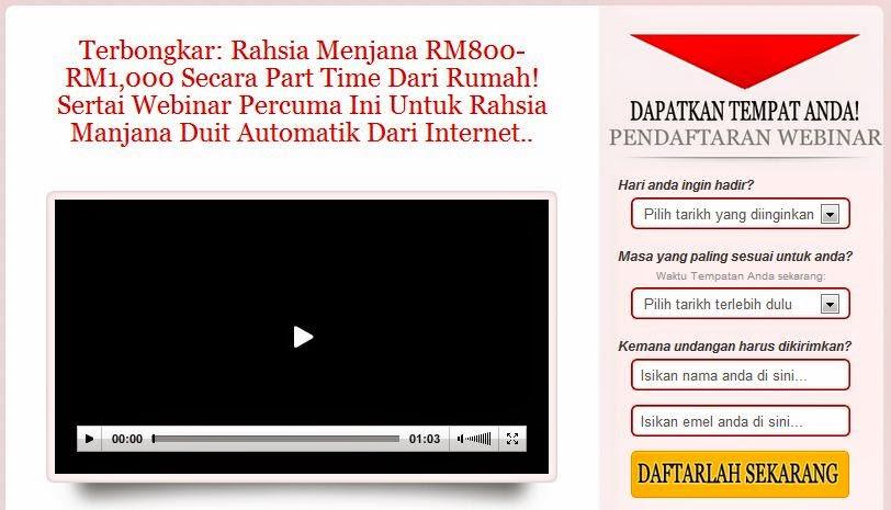 Peluang Jana RM800 Hingga RM1,000 Secara Part Time Dari Rumah