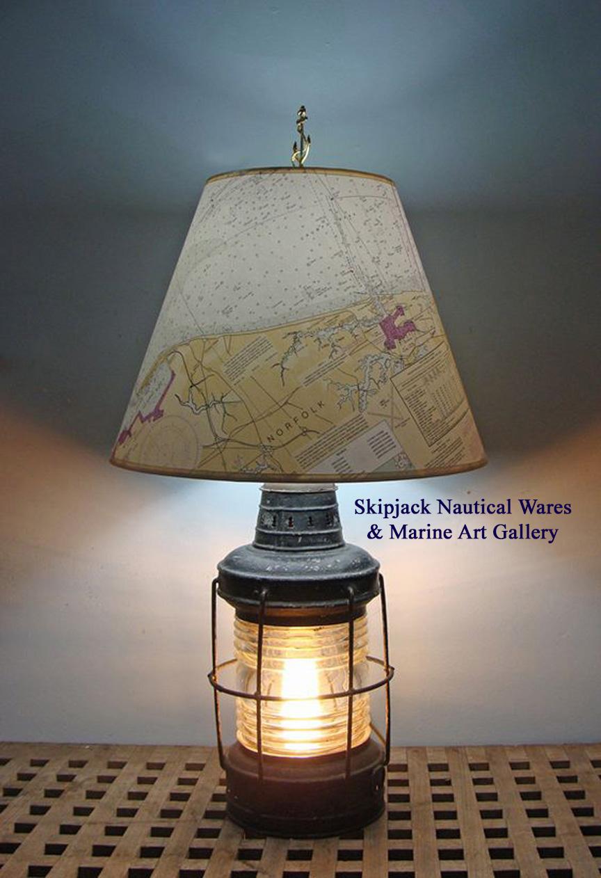 Skipjack's Navigational Chart Lamp Shades