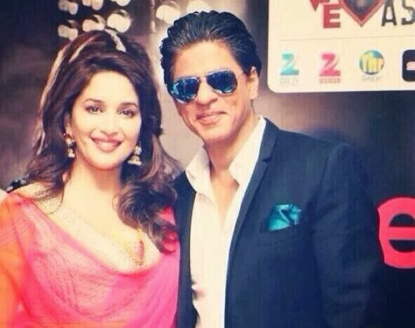 SRK, Madhuri & Honney Singh at the Temptation Reloaded press conference