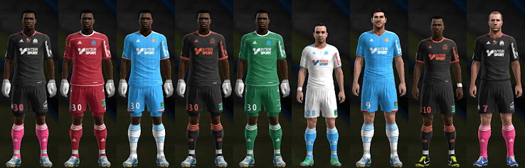 PES 2013 Marseille 12 13 Kit Set by Santy Argentina