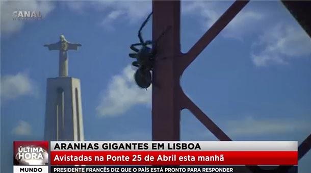 aranhas gigantes em Lisboa - As Fantásticas Aventuras de Dog Mendonça e Pizzaboy - Filipe Melo