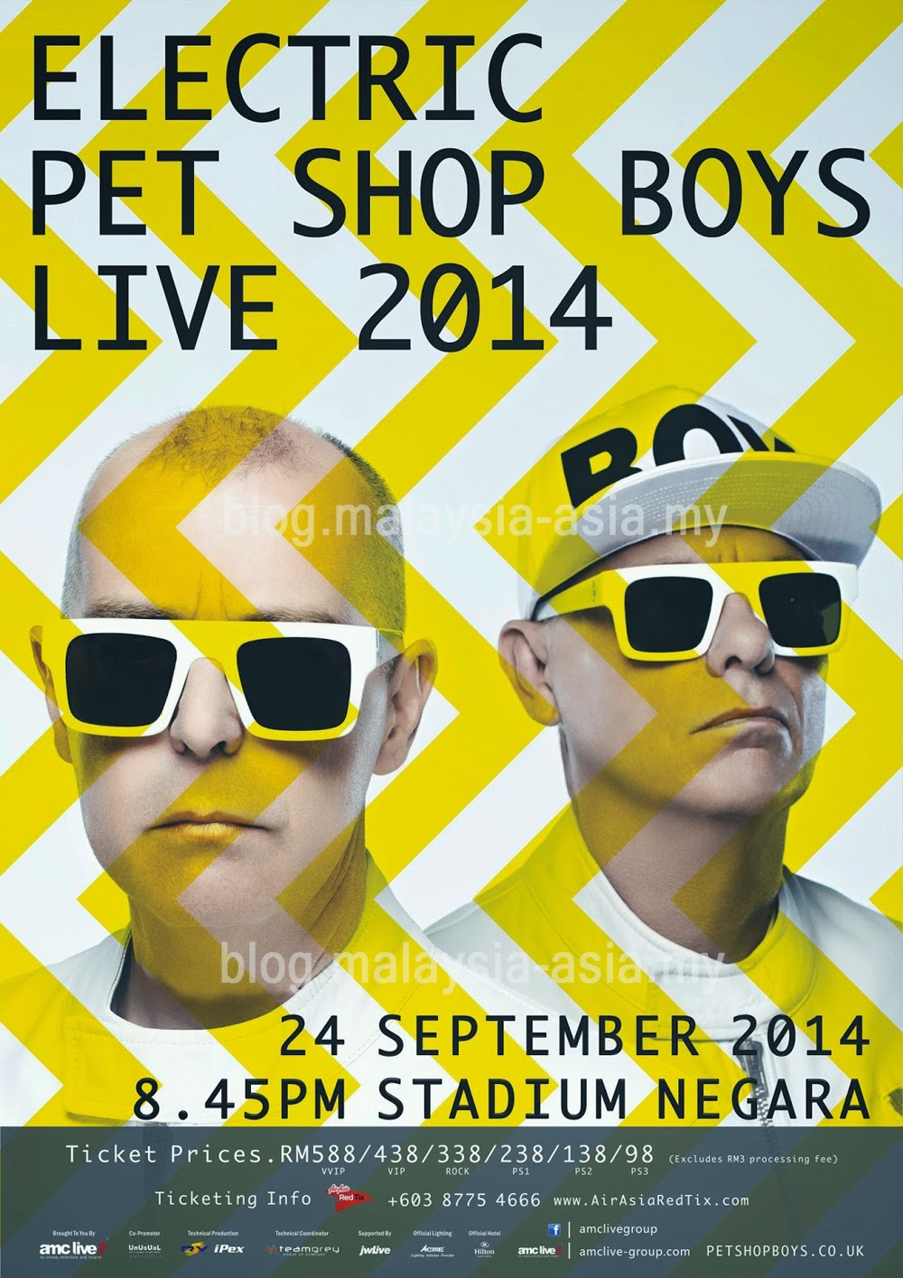 Pet Shop Boys live concert in Malaysia 2014