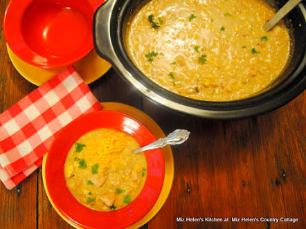 Slow Cooker Green Chili Chicken and Rice Soup