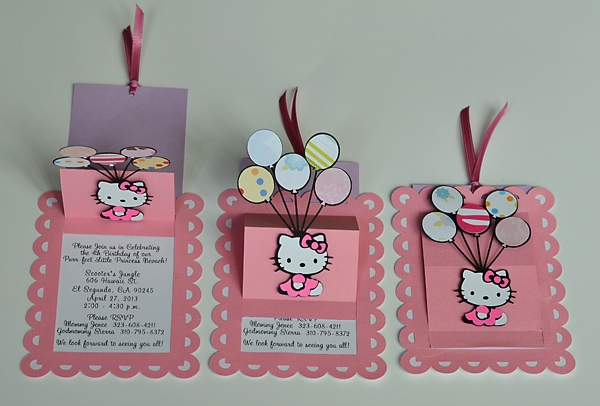 Birthday And Baby Shower Invitations Sanrio Hello Kitty Handmade - Birthday invitation cards singapore