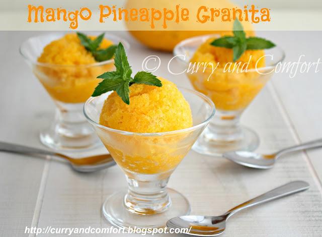 Kitchen Simmer: Mango Pineapple Granita