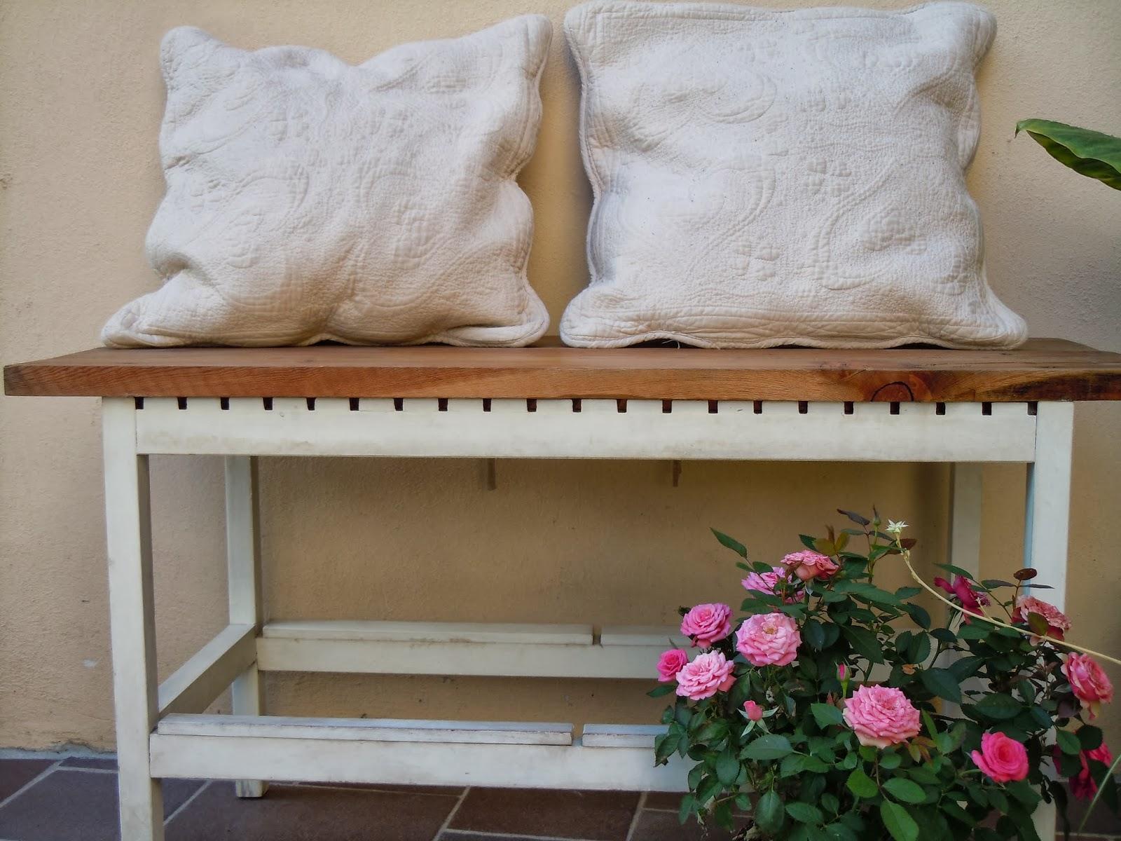 Le idee migliori mi vengono di notte nuova vita per una panca ikea - Panchine da giardino ikea ...