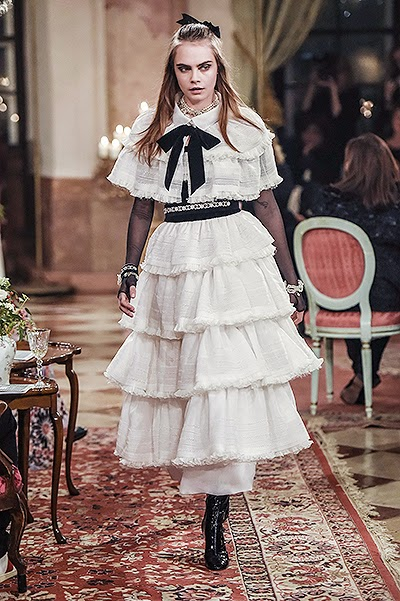 Cara Delevingne at the Chanel show