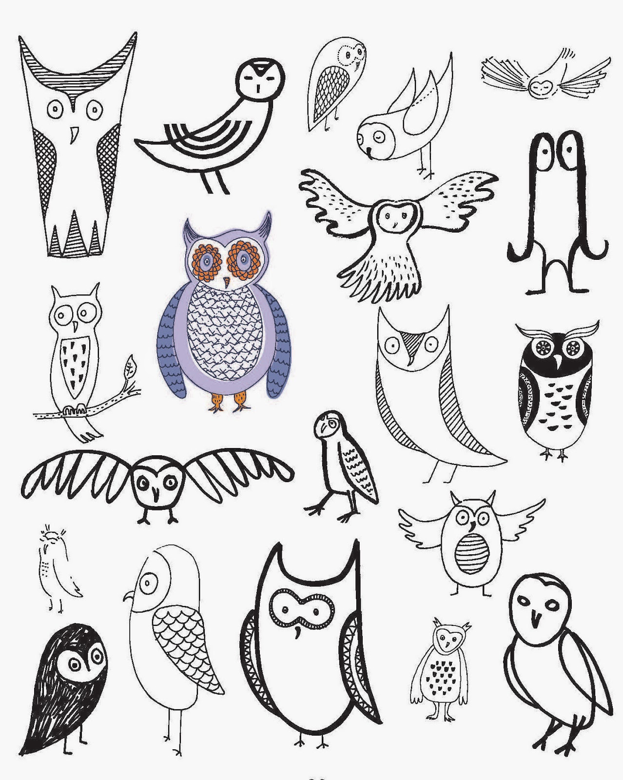 Owl Doodle Drawing This Page of 20 Ways to Draw