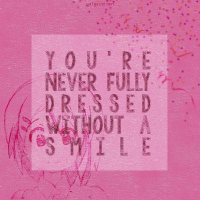Paige Caiden Art - Sia's You're Never Fully Dressed Without a Smile