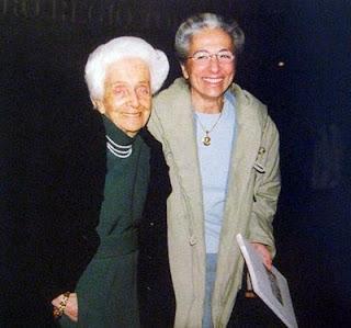 Prof.ssa Rita Levi-Montalcini con la nipote Piera