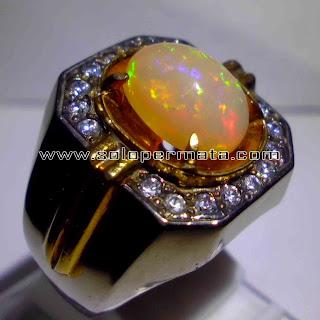 Batu Permata Kalimaya Opal Fire