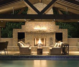 Outdoor Fireplaces Through The Front Door