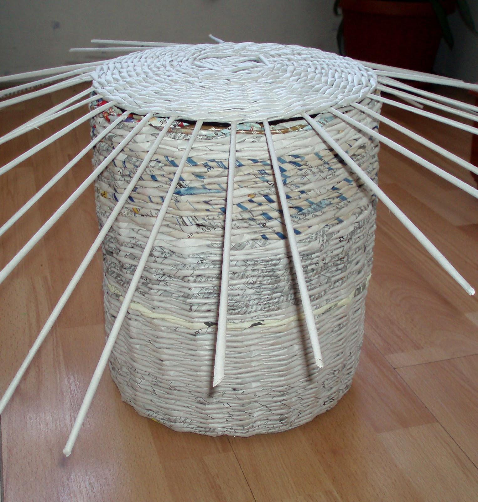Короб из газетных трубочек мастер класс с пошаговым