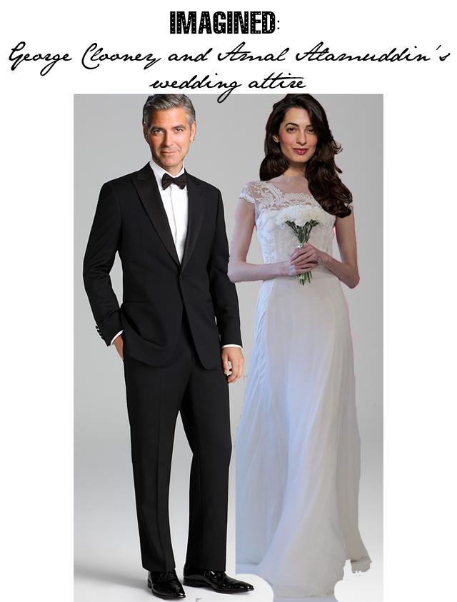 George Clooney Amal Alamuddin Wedding Photo