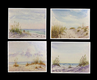 watercolour study sketches of Florida beaches by Manju Panchal